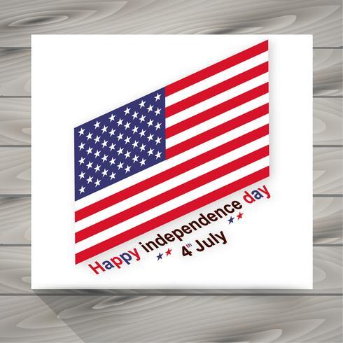 lycklig självständighetsdag illustration med amerikanska flaggan