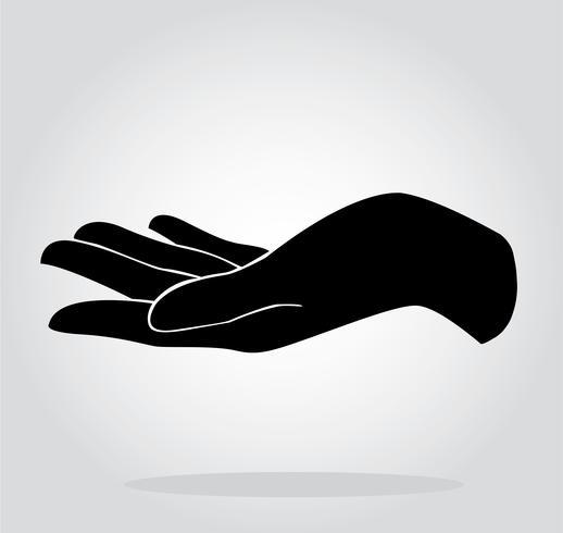 Hand, die Symbol hält