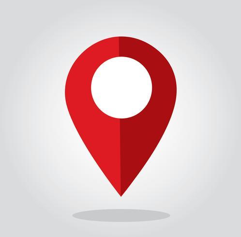 Vetor de símbolo de ícone de localização