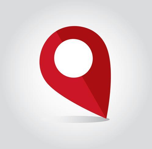 Símbolo do ícone de localização vetor