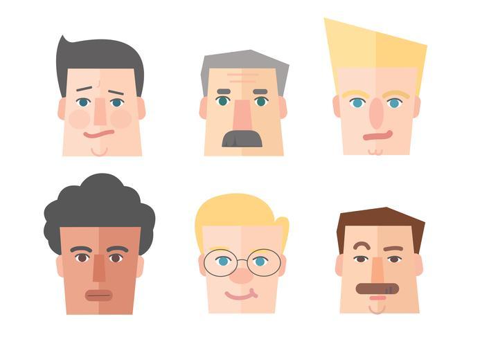 icône de personnes, dessin animé icône homme portrait