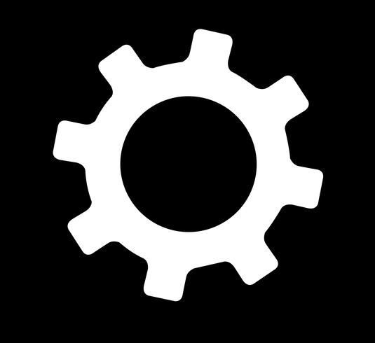 vector de símbolo de ingeniería de engranajes