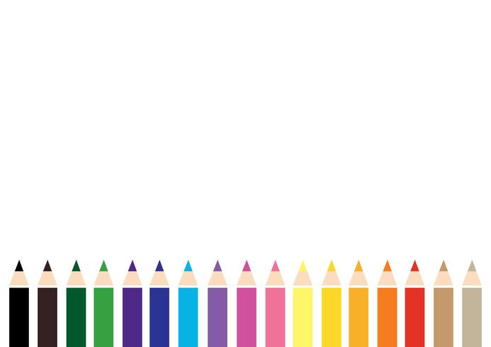vector de fondo de lápiz de color colorido