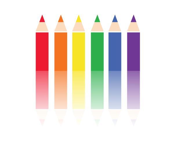 vettore di sfondo colorato matita colore