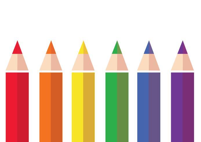 färgstark färgpenn bakgrunds vektor