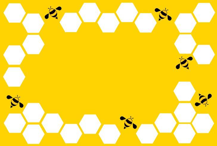 hexagone abeille design art et espace fond vecteur