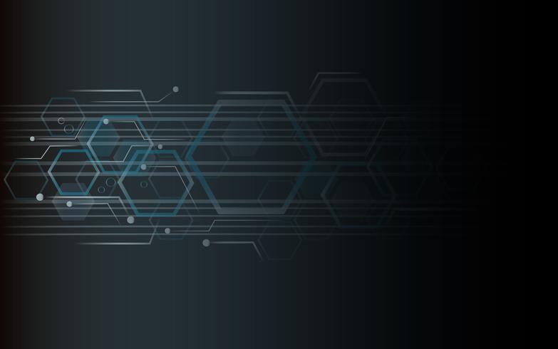 la forma de hexágono concepto diseño abstracto fondo de tecnología