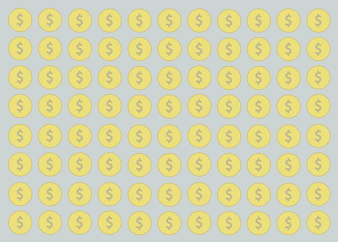 munt, geldontwerp en ruimteachtergrond vector