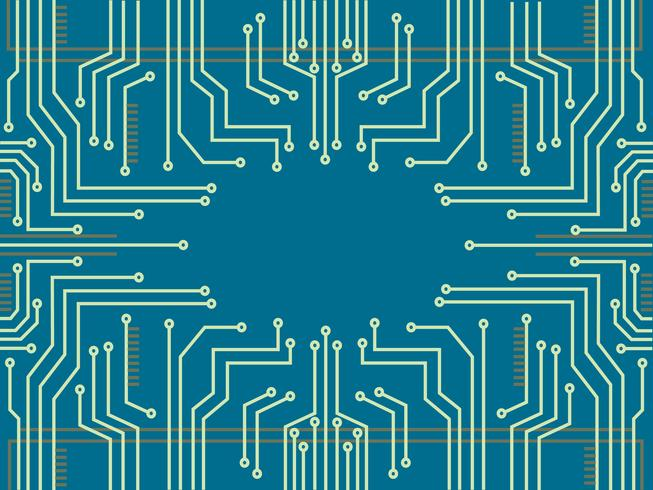 microchip line technology symbol abstract background