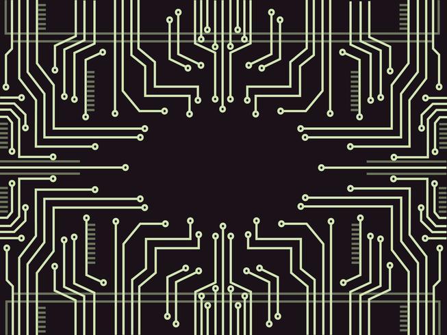fondo astratto di simbolo della tecnologia della linea del microchip