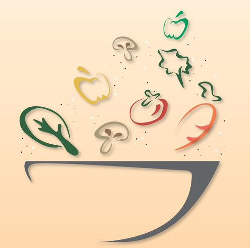 salladsskåldesignsymbol