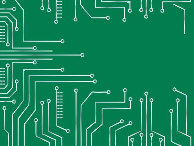 Mikrochip Linie Technologie Symbol abstrakten Hintergrund
