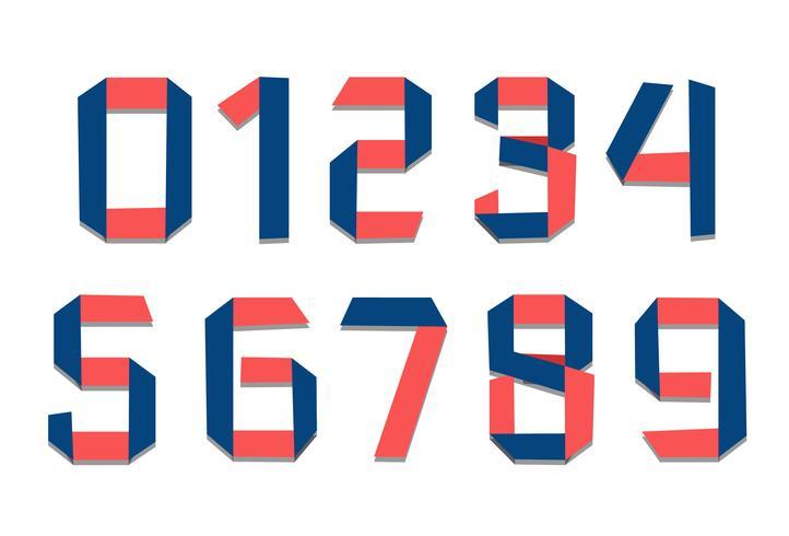 Papierfalzschriftnummern