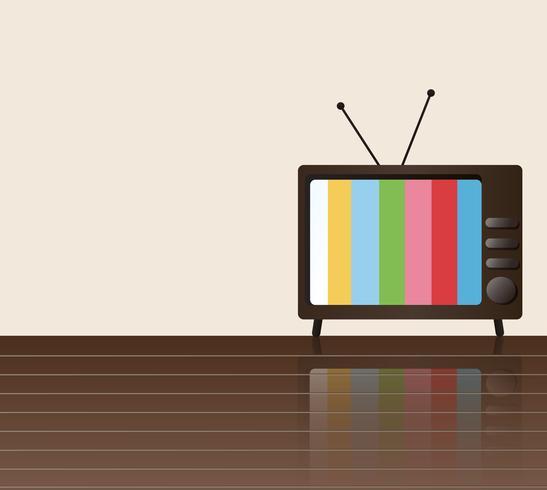 vetor de arte de fundo de espaço de televisão