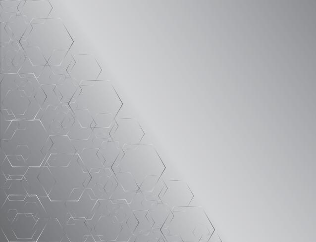 Hexágono línea abstracta y fondo de arte de espacio
