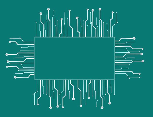 mikrochip boxteknik linje bakgrund
