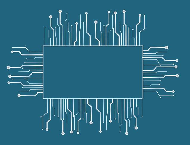 Fondo de línea de tecnología de microchip box