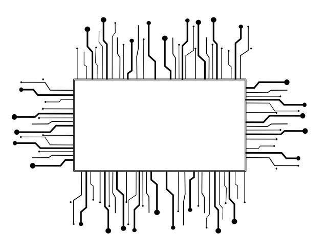 microchip box technologie lijn achtergrond