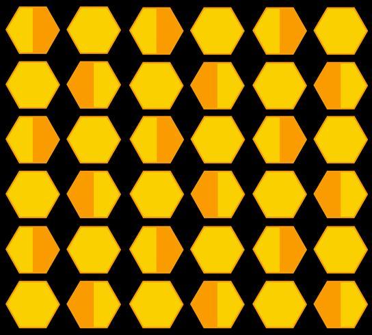 fundo dos desenhos animados de hexágono de colméia de abelha vetor
