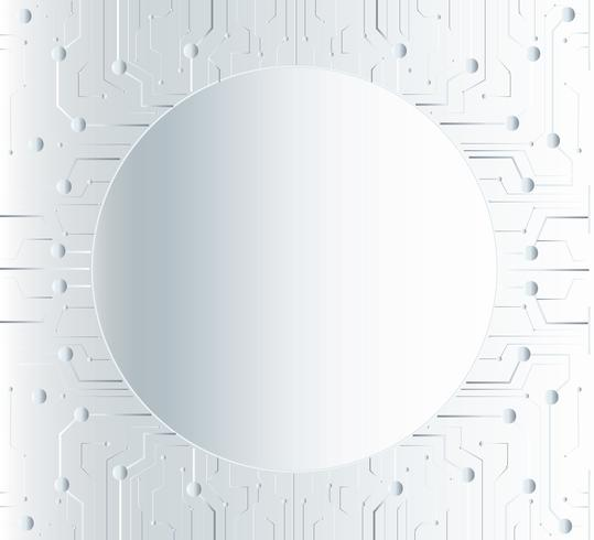 technology line and circle space middle background vector