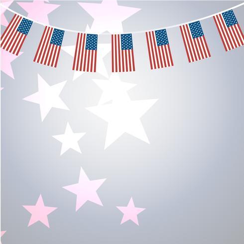 Banners americanos modelo vector design