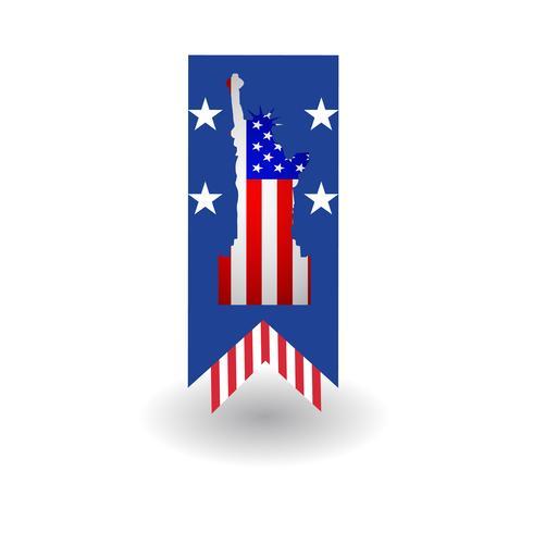 Amerikanisches Fahnenschablonen-Vektordesign
