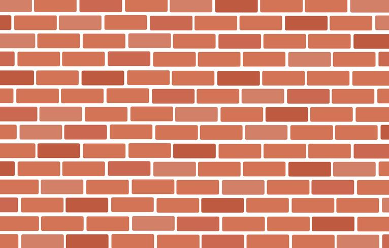 Muur van bakstenen achtergrondkunstvector