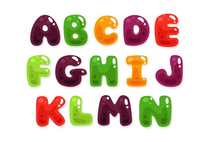 Kleurrijke jelly alfabetten voor kinderen deel 2
