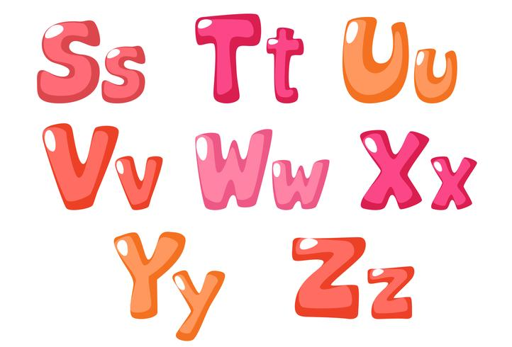 cute bold font in pink color for kids part 3
