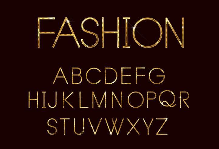 Carattere di moda d'oro vettore