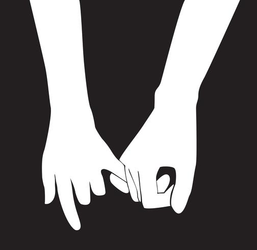 pinky promise , hand holding vector