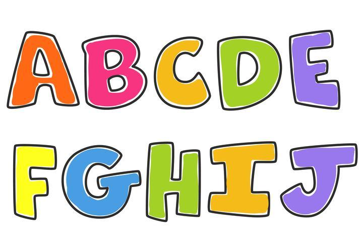 Alfabeti Colorati Per Bambini Parte 1 Scarica Gratis Arte