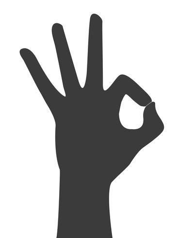 mani okay segno vettoriale
