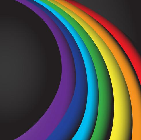 abstract rainbow wave on a black background vector