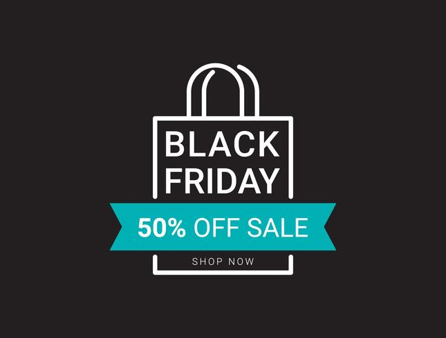 Black friday sale banner layout design template, Flat style vector illustration artwork.