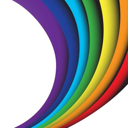 onda arcobaleno astratto su uno sfondo bianco