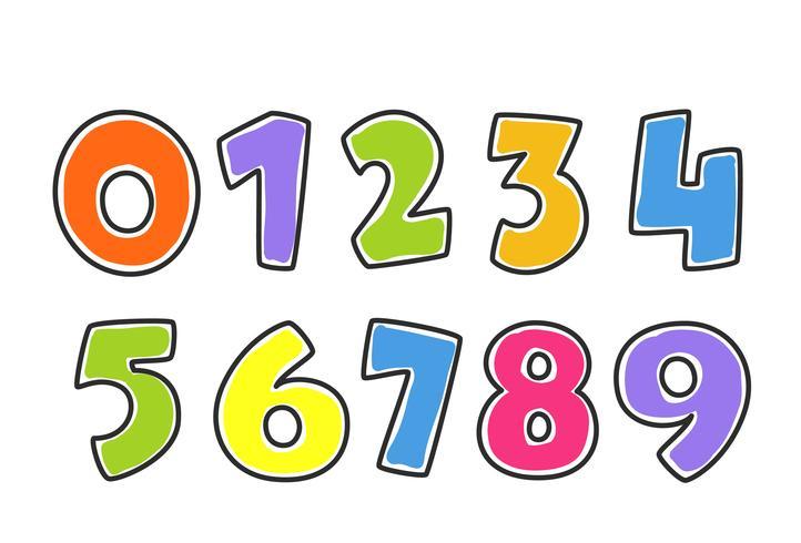 Kinderbunte Alphabet-Zahlen