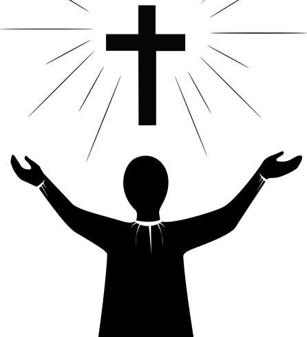 Pray to Jesus Christ art vector