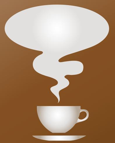 una taza de bebidas calientes con vector de fondo marrón