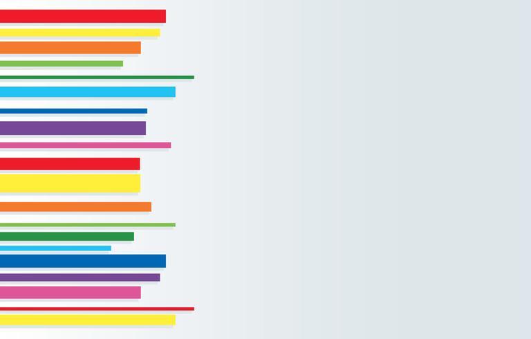 Vector de fondo de arte abstracto de línea arco iris