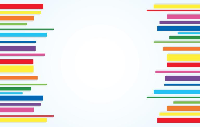 vettore di sfondo arcobaleno linea arte astratta