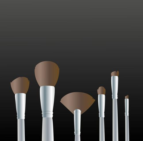 Makeup tools background vector
