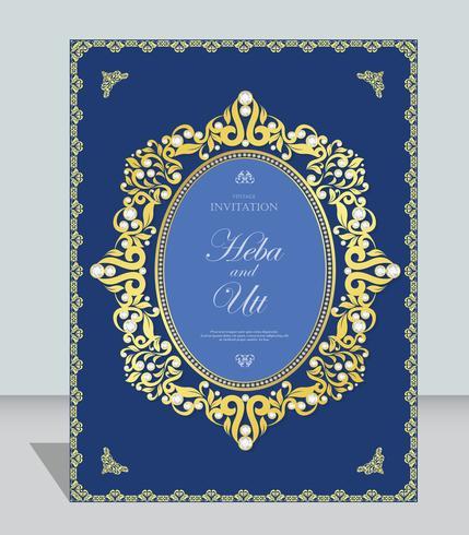 Hochzeits- oder Einladungskartenweinleseart mit abstraktem Musterhintergrund der Kristalle