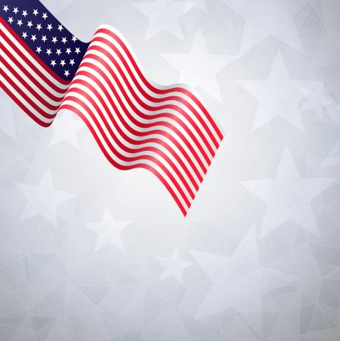Flag American banners template lowpoly vector design