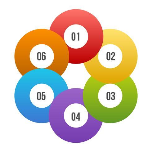 Círculo gráfico, círculo infográfico ou diagrama Circular