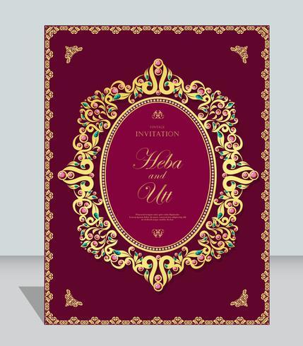 Estilo vintage de cartão casamento ou convite com cristais fundo abstrato