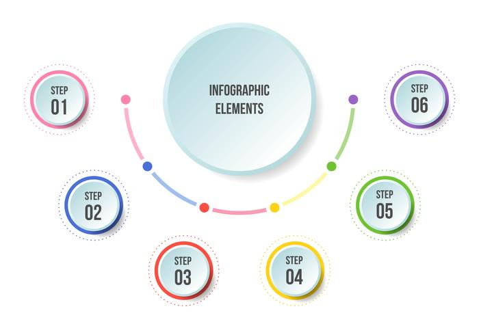 Diagramme demi-cercle, modèles d'infographie Timeline