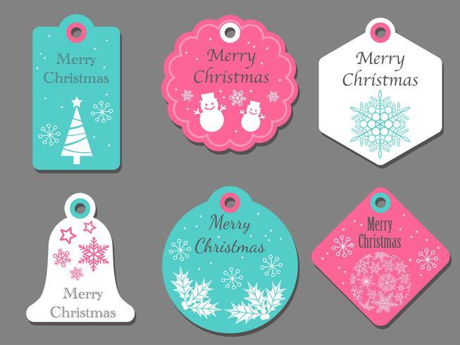 Conjunto de etiquetas de Navidad surtidos. vector
