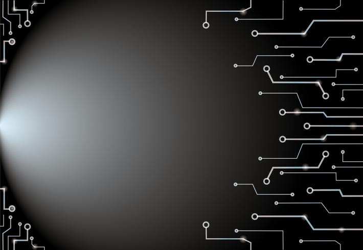 Abstract black technology lines art background and space