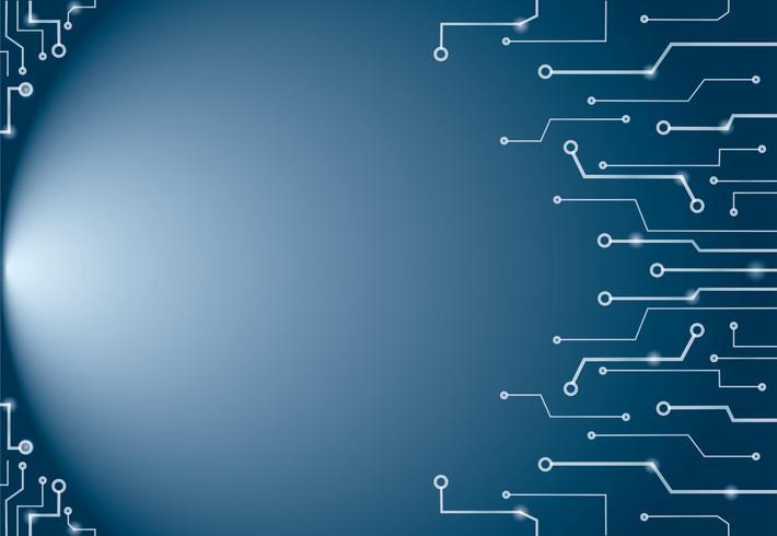 Abstracte blauwe de kunstachtergrond en ruimte van technologielijnen vector